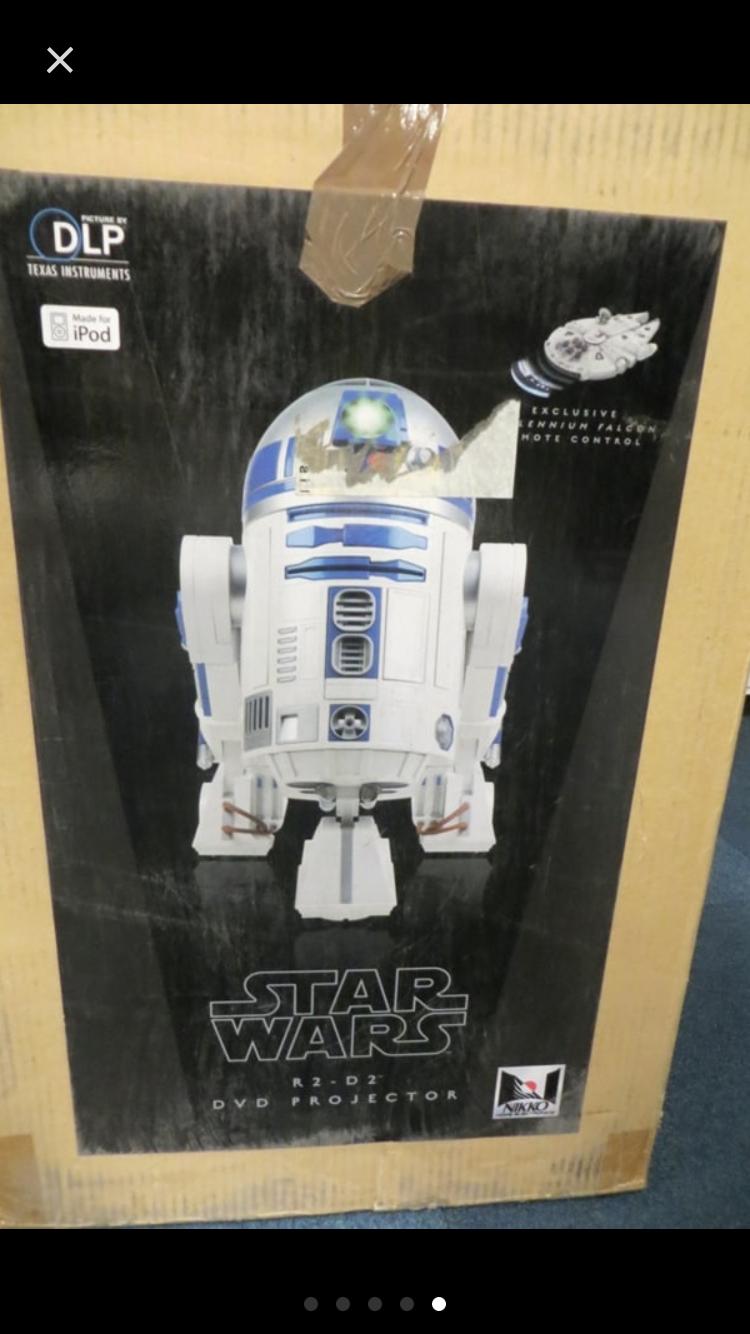 R2-D2 STAR WARS VIDEO PROJECTEUR NIKKO DLP COMPLET EN BOITE COMME NEUF HYPER RAR