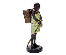 Deko Figur Mädchen Mit Korb Dekofigur Frau Skulptur Statue Für Wohnzimmer Groß