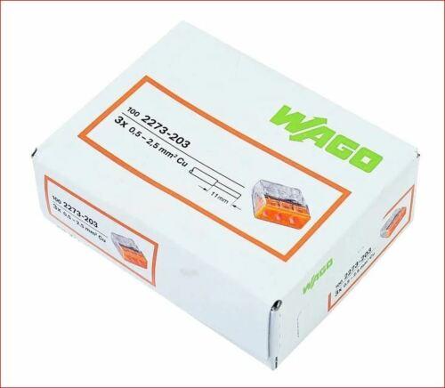 WAGO Compact Verbindungsdosenklemme 2273 3-Leiter 100 Stück 2273-203 Wago