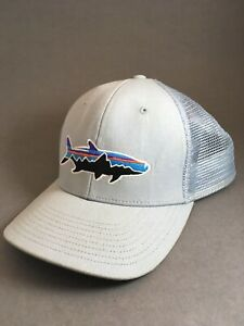 New Patagonia Small Fitz Roy Fish LoPro Trucker Hat Forge Grey Tarpon