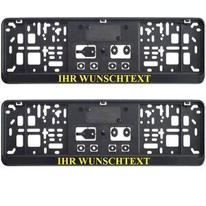 2-x-kurz-Kennzeichenhalter-46-cm-mit-WUNSCHTEXT-Nummernschildhalter-460-x-110