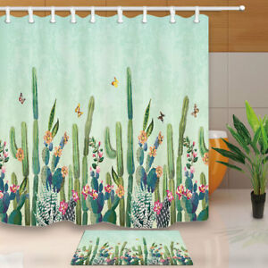 Image Is Loading Tropical Desert Succulent Cactus Shower Curtain 71 034