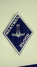 "Heathen Thor's Hammer Diamond Patch HARLEY Outlaw biker 1%er Viking, Odin ""Black"