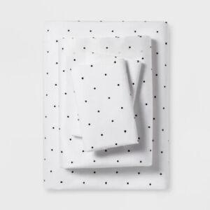 Sheet Set Printed Khaki Dots 300 TC Project 62 Nate Berkus  Queen Size