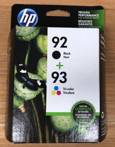 C9513FN C9513BN HP 92 93 Combo Pack Ink Cartridge Black Color Feb 2019
