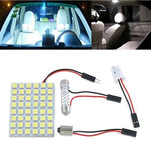 Car-Interior-Dome-Panel-White-LED-Light-48-SMD-5050-Lamp-T10-Festoon-BA9S-12V-5W