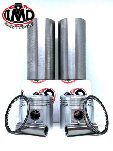 STD 70 mm 1950-1962 New Liners 2 2 BSA a10 Piston Kits /& Cylinder Sleeves