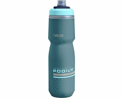 Camelbak Podium Chill Insulated Cycling Biking Water Bottle Teal 24 oz 2X Colder