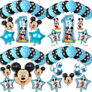 Disney-Mickey-Mouse-Birthday-Balloons-Foil-Latex-Party-Decorations-Gender-Reveal