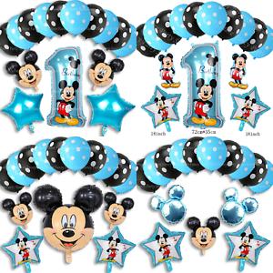DISNEY-Mickey-Mouse-Compleanno-Palloncini-Stagnola-Lattice-Party-Decorazioni-di-genere-rivelare