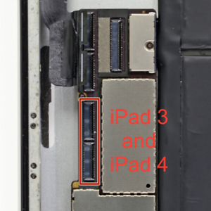 A1396 Apple iPad 2nd Gen A1395 and A1397 Digitizer FPC Connector J3010