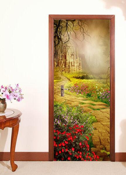 3D Castle 50 Wall Stickers Vinyl Murals Wall Print Deco AJSTORE UK Kyra