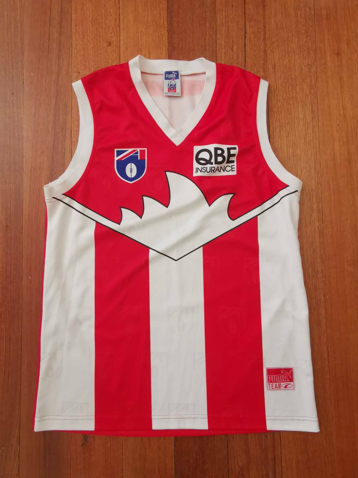 Image 1 - Sydney-Swans-rare-1997-98-Ansett-Cup-preseason-guernsey-jersey-jumper-AFL-90s