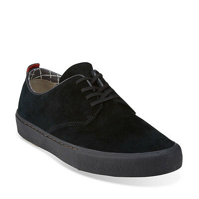 Clarks Sportswear Desert Vulclo Men's Suede Casual Sneaker Shoes 26111642 Black