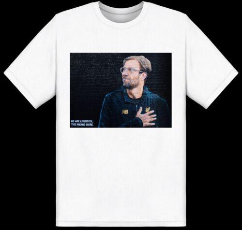 New Liverpool Jurgen Klopp White T-shirt LFC Kids Youth Size Large Boy's