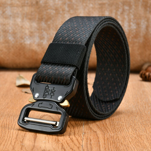 Men/'s Adjustable Military Tactical Gun Belt Buckle Combat Waistband Black//Green