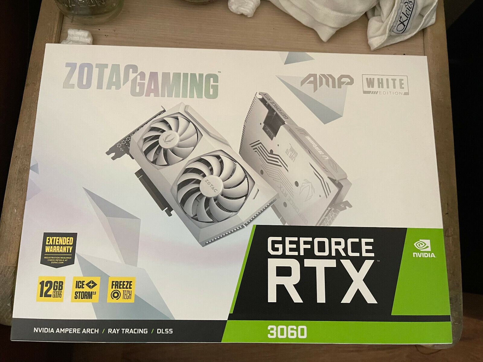 🔥🌸 ZOTAC GeForce RTX 3060 12GB AMP White Edition GPU Graphics Card