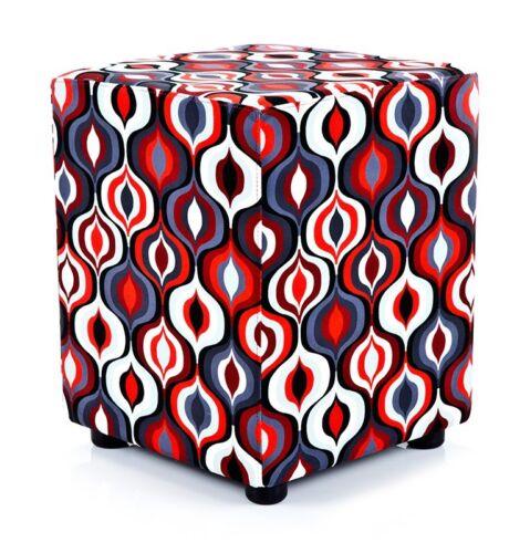 Sitzwürfel Sitzhocker Hocker exclusiv rot koralle von Kaikoon  35 cm x 35 cm x 4