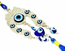 Blue Evil Eye Horse Shoe Wall & Car Hanging Amulet Protection Blessing Decor