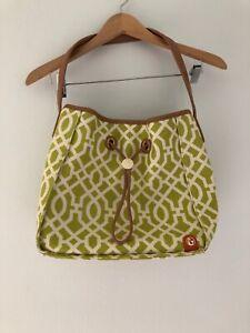 SPARTINA 449 Daufuskie Island Mul Bucket BAG $175 LINEN Hayward Drawstring Lime
