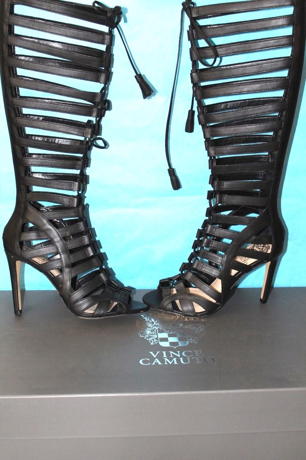 AUTHENTIC VINCE CAMUTO VC-OLIVIAN GLADIADOR LACE-UP SANDALS SIZE 6M NIB