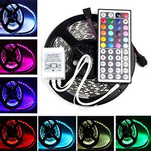 DC12V 5M 5050 RGB 300 LED SMD Flexible Light Strip +44key Remote Non-Waterproof