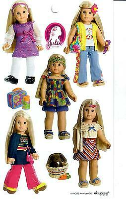 AMERICAN GIRL JULIE BEFOREVER STICKERS TUNIC~PATCHWORK~MEET~HOLIDAY~SUMMER SETS