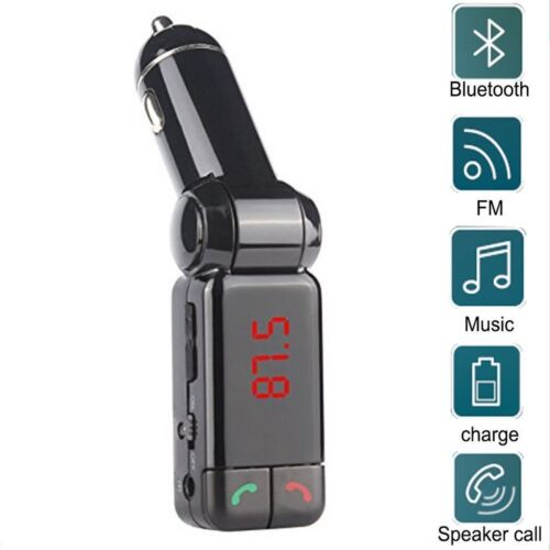 Bluetooth fm Radio car charger with Handsfree Calling USB Charging Port Up to 2A