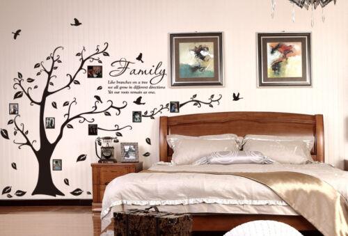 Photo de famille Tree /& oiseaux Art Autocollant Mural Vinyle DIY Wall Decal-Haute Qualité