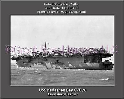 USS Altamaha CVE 18 Personalized Canvas Ship Photo Print Navy Veteran Gift