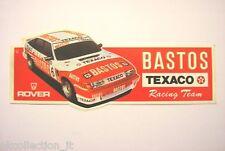 VECCHIO ADESIVO / Old Sticker RALLY ROVER BASTOS RACING TEAM (cm 19 x 7)