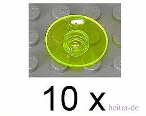 LEGO-10-x-Radar-Sat-Schuessel-Dish-2x2-transneongelb-4740-NEUWARE