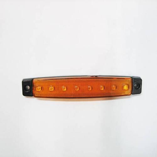 8 X 12v Orange 8 Led Seitliche Begrenzungsleuchte Lkw Anhänger Lkw Fahrwerk