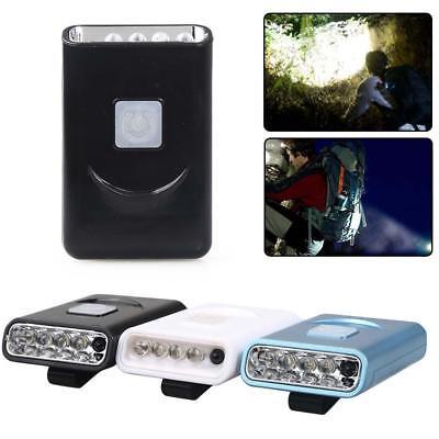 Rechargeable 5 LED Infrared Sensor Head Cap 60000LM Light USB Headlamp Torch DI