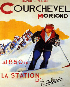 POSTER FUNICULAIRE SKIING SAINT GERVAIS LES BAINS FRANCE VINTAGE REPRO FREE S//H