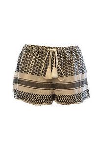 spiaggia cotone 24 Rrp £ in monocromo Pantaloncini da Topshop 8tqnw5x