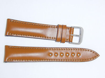 """RIOS1931 Shell Cordovan Leather Watch Band Strap 20 mm Honey, Tan """"Chicago"""""""