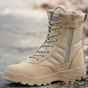 102690c953f Outdoor Ankle Boots Men s High top Tactical Military Safety Desert ...