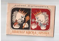 A Marinowicz Muchy króla Apsika Uszacka Polish book to colouring for children