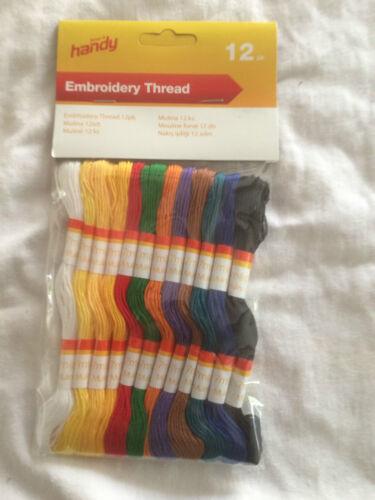 Threads échevettes cross stitch envoi gratuit Mix broderie couleurs 100 C également