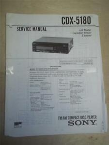 sony service manual~cdx 5180 cd compact disc player tuner~original image is loading sony service manual cdx 5180 cd compact disc
