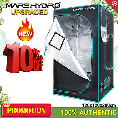 4'x4'x6.5'Hydroponic Indoor Grow Tent Kit Dark Room Box Cabinet Reflective Mylar