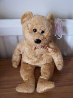 Ty Beanie Babies Cashew The Bear - Retired 2001 7th Generation Hang Tag