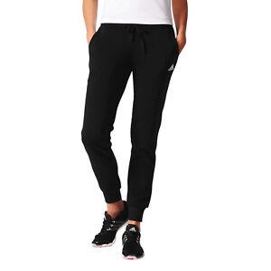 Adidas-Pantaloni-Donna-da-Corsa-Nero-Atletica-Essentials-Solido-Nuovo-S97159