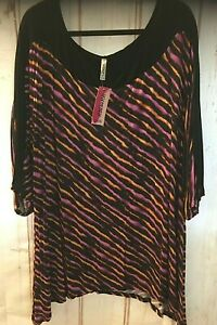 Yummy-Plus-Women-039-s-Career-amp-or-Casual-Dressy-Tunic-Top-3-4-Sleeve-Plus-Size-4X