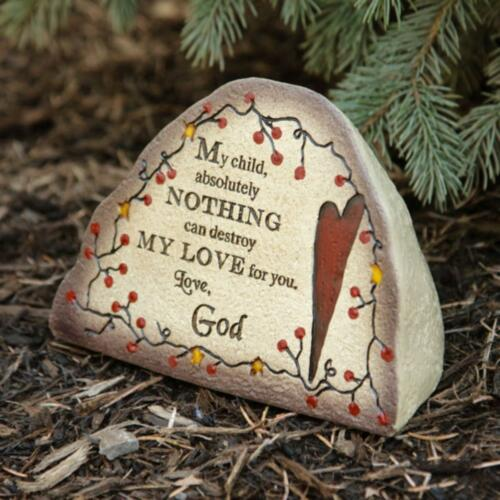 MY CHILD// nice garden stone Messages from God decorative Garden Stone