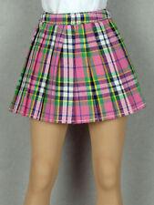 1/6 Phicen, Hot Toys, Kumik, Cy Girl, ZC & NT - Female Pink Tartan Plaid Skirt
