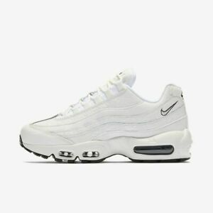 Details about Nike Air Max 95 Lea Women's Leather Triple Summit White  AQ8758-100 Premium Rare