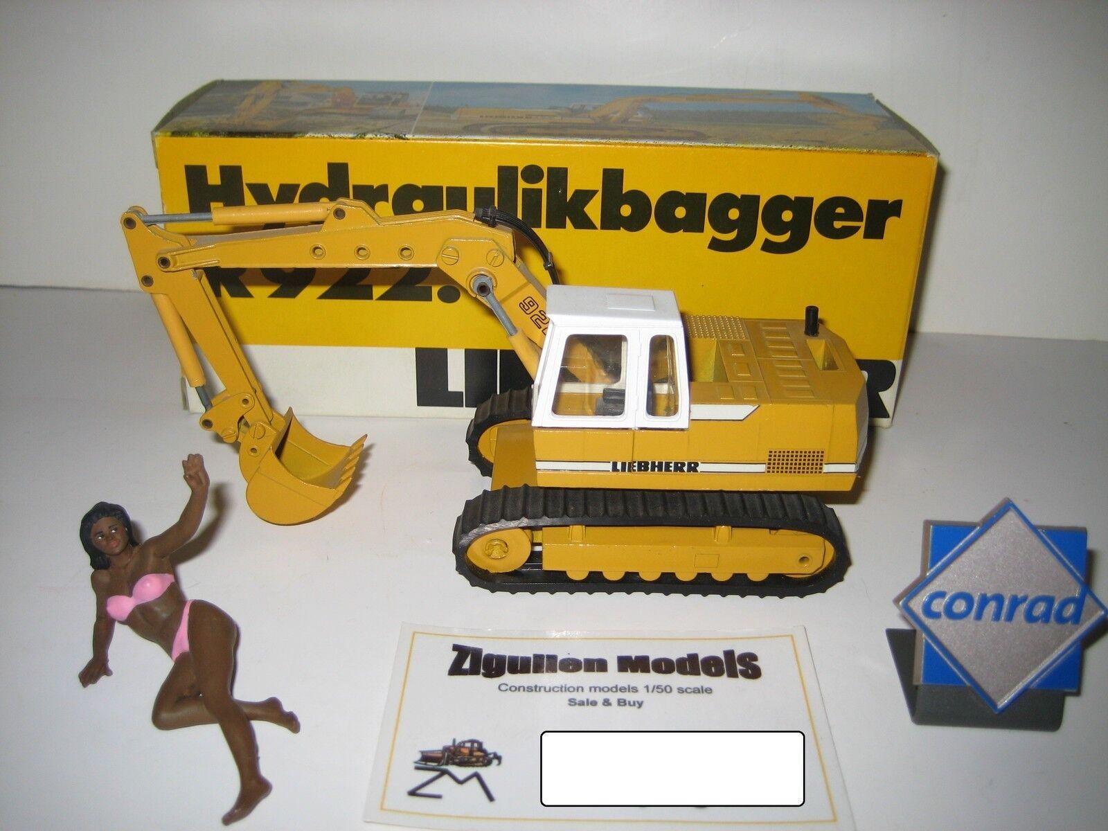 LIEBHERR R 922 Excavateurs tieflöffel à chenilles  2825.1 CONRAD 1 50 NEUF dans sa boîte