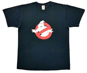 Vintage-Ghostbusters-Tee-Black-Distressed-Size-Large-Mens-T-Shirt